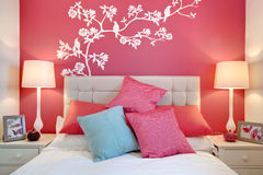 Chic modern bedroom Stock Images