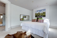 Chic modern bedroom interior Stock Image