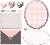 Chic Pink Boutique Layout Stock Photos