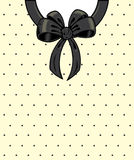 Chic polka dots and ribbon Stock Images