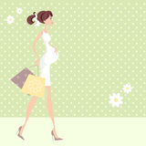 Pregnant Shopping Woman Royalty Free Stock Photos