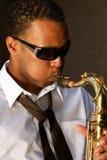 chic saksofonistów young Obraz Royalty Free
