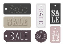 Chic Sale labels. Vector illustration of chic and trendy Sale labels Stock Photography