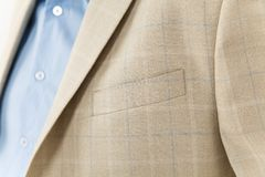 Chic and stylish suit. Business, neckline, classical, elegance. Chic and stylish suit, fashion background / Business, neckline royalty free stock photo