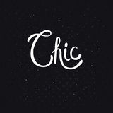 Chic Text on Dotted Abstract Black Background Royalty Free Stock Photography