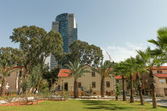 Chic and trendy compound of Sarona in Tel aviv Royalty Free Stock Images