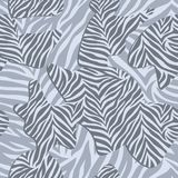 Chic vector seamless patterns tiling. Animal print, zebra texture Stock Images