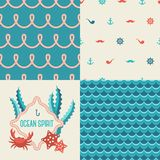 Chic vector seamless patterns - tiling. Stock Photo
