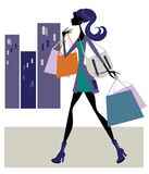 Chic Woman shopping Royalty Free Stock Photo