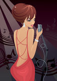 Chic young singer Stock Photo
