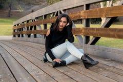 Chica de portada fotografía de archivo libre de regalías