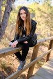 Chica joven al aire libre Fotografía de archivo libre de regalías