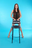 Chica joven alegre Imagen de archivo libre de regalías