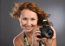 Chica joven atractiva Foto de archivo