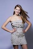 Chica joven atractiva del retrato fotografía de archivo libre de regalías