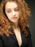 Chica joven atractiva y triste Imagen de archivo libre de regalías