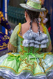 Chica joven, bailarín de Chile en el traje tradicional 2 fotografía de archivo libre de regalías