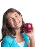 Chica joven bonita con la manzana Imagen de archivo