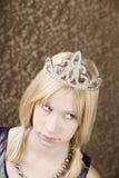 Chica joven bonita con una tiara Foto de archivo libre de regalías