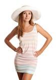 Chica joven bonita en la ropa del verano Imagen de archivo