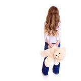 Chica joven con el oso Fotografía de archivo libre de regalías