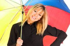 Chica joven con el paraguas Foto de archivo