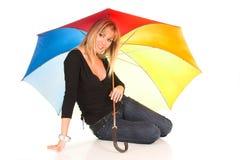 Chica joven con el paraguas Fotografía de archivo libre de regalías