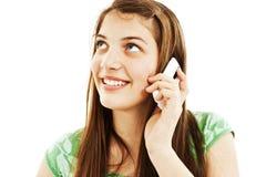 Chica joven con el teléfono Fotografía de archivo