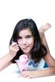 Chica joven con helado Fotografía de archivo libre de regalías