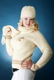 Chica joven con la bufanda Foto de archivo