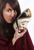Chica joven con la máscara Imagen de archivo libre de regalías