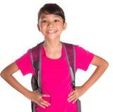 Chica joven con la mochila VII Imagen de archivo libre de regalías