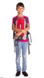 Chica joven con la mochila XI Imagenes de archivo