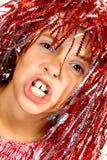 Chica joven con la peluca del carnaval Imagen de archivo libre de regalías