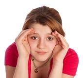 Chica joven con las anteojeras Fotografía de archivo libre de regalías