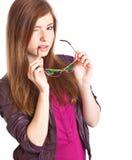 Chica joven con las gafas de sol Fotografía de archivo libre de regalías