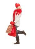 Chica joven con los bolsos de compras Imagen de archivo libre de regalías