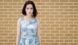 Chica joven con los ojos azules Foto de archivo libre de regalías