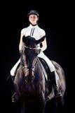 Chica joven con su caballo Fotos de archivo