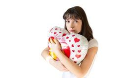 Chica joven con un globo Fotografía de archivo libre de regalías