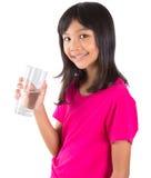 Chica joven con un vidrio del agua VII Fotos de archivo libres de regalías