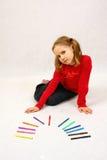 Chica joven confidente Imágenes de archivo libres de regalías