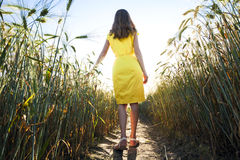 Chica joven de la belleza al aire libre que disfruta de la naturaleza MES adolescente hermoso Fotos de archivo