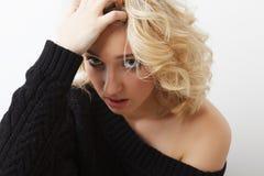 Chica joven de la tristeza Imagenes de archivo