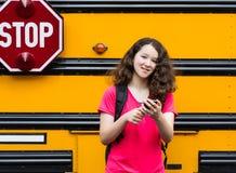 Chica joven de nuevo a escuela Fotografía de archivo libre de regalías
