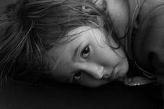 Chica joven decepcionante Imagen de archivo libre de regalías