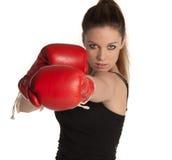 Chica joven del boxeo Foto de archivo libre de regalías