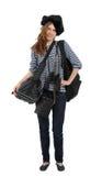 Chica joven del viajero Imagen de archivo libre de regalías