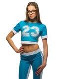 Chica joven deportiva aislada foto de archivo libre de regalías