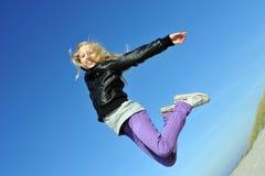 Chica joven emocionada Fotos de archivo